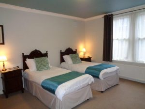 Twin Bedroom Bed and Breakfast Accommodation at Hamilton House Dumfries